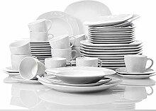 VEWEET 60-teilig Porzellan Tafelservice