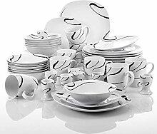 VEWEET Porzellan Geschirrset, 40-teilig
