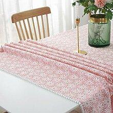 VFGHH Weihnachtstischdecke,Staubdichte Rosa Blume
