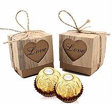 VGoodall Rustikale Bonbonniere-Geschenkboxen für