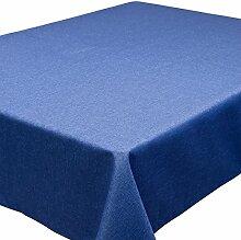 Vh, 135x180 cm ovale große Tischdecke m. Lotuseffekt, wasser. und fleckabweisend, verschiedene Farben, blau