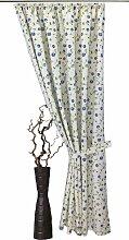 VHG Vorhang Kati, Leinenoptik, Blumen, Ranke 125