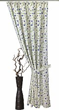 VHG Vorhang Kati, Leinenoptik, Blumen, Ranke 145