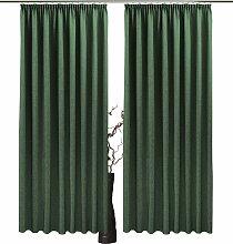 VHG Vorhang Una 130 cm, Kräuselband, 140 cm grün