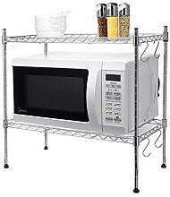 VHGYU Mikrowelle Rack Metallregalhalter Küche