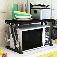 VHGYU Mikrowellen-Regal mit 2 Ebenen, für Küche,