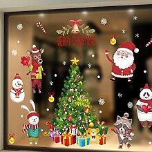 VHVCX Weihnachten Ornamentglas-Fensteraufkleber