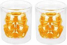 VI AI Doppelwandige Wassergläser Whisky-Glas