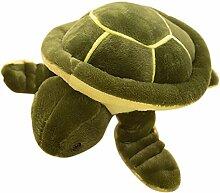 Vi.yo Liebe Schildkröte Form Kissen Kissen Niedlich Plüsch Baby Spielzeug Gefüllte Tier Baumwolle Puppe (Grün,Größe L)