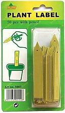 viagrow Pflanzstab Etiketten mit Bleistift (50Pro Box)
