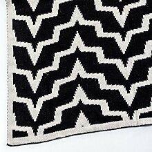 Vical Home Sofadecke schwarz/weiß 150 x 125 cm