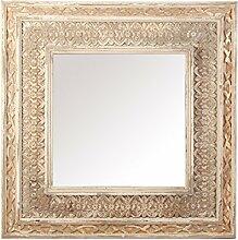Vical Home Spiegel, aus Fichtenholz, Beige, 97x