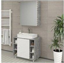 VICCO Badspiegel FYNN 62 x 64 cm Grau Beton -