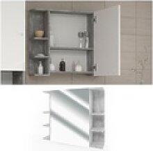 VICCO Badspiegel FYNN 80 x 64 cm Grau Beton -