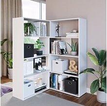 Vicco Bücherregal Eck-Laine Standregal weiß