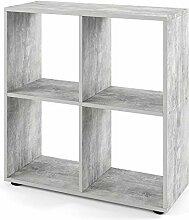 Vicco Bücherregal Tetra 4 Fächer Raumteiler