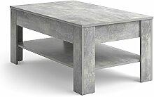 Vicco Couchtisch mit Schublade 110 x 65 cm Beton -