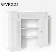 VICCO Kaminumrandung im Landhaus Stil mit Tür