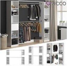 VICCO Kleiderschrank GUEST XL offen begehbar Regal