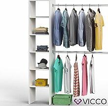 Vicco Kleiderschrank VISIT 190 x 140 cm Weiß