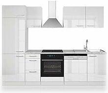 Vicco Küche 270 cm Küchenzeile Küchenblock