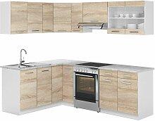 Vicco Küchenzeile L 230Cm Küchenblock Winkel Eck