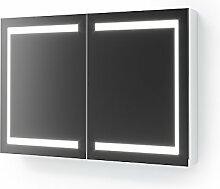 Vicco LED Spiegelschrank Weiß Badschrank