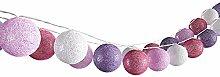 VICCO Lichterkette Cotton Balls Girlande