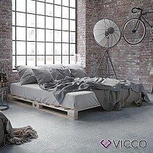 VICCO Palettenbett Bett Holz Massivholzbett 90 100