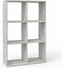 Vicco Raumteiler Karree 6 Fächer Bücherregal