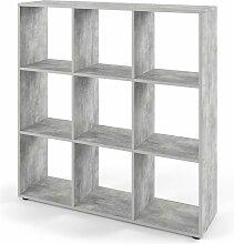 VICCO Raumteiler NOVE 9 Fächer Grau Beton -