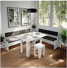 Vicco Sitzbank Küchenbank Roman weiß 137cm mit