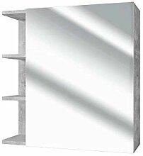 Vicco Spiegelschrank Fynn 62 cm Beton-Grau -