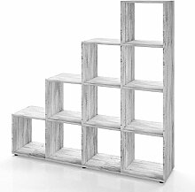 Vicco Treppenregal 10 Fächer - Raumteiler