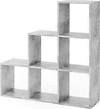 Vicco Treppenregal 6 Fächer Raumteiler