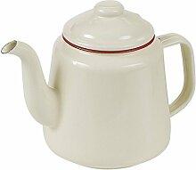 Victor Emaille-Teekanne mit Rand, Ro