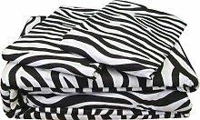 Victoria Betten Ägyptische Baumwolle 650-thread-count Bettset 4-Bettlaken-Set fit Matratze bis 44cm Ultra Soft-Elegant, komfortabel, weich Home & Hotel Qualität., 100 % Baumwolle, Zebramuster, Doppelbe