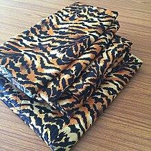 Victoria Betten Ägyptische Baumwolle 650-thread-count Bettset 4-Bettlaken-Set fit Matratze bis 44cm Ultra Soft-Elegant, komfortabel, weich Home & Hotel Qualität., 100 % Baumwolle, Tiger Print, Euro Ikea King