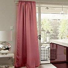 VICTORIA M Aurora Verdunkelungsvorhang blickdicht Thermovorhang mit Kräuselband 140 x 245cm rosa