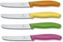 Victorinox Brötchenmesser-Set, 4er Pack, farbig