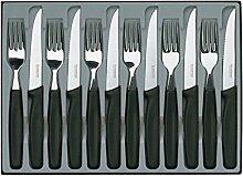 VICTORINOX Steakmesser-Set, Wellenschliff,