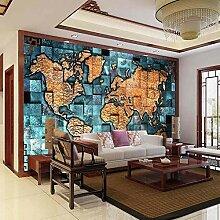 Vicueyy 3D Fototapete Wandbild Weltkarte Foto