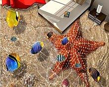 Vicueyy Foto Wandbild 3D Bodenfliesen Shell Turtle
