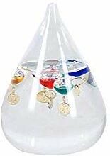 Vidal Regalos Galileo-Thermometer Tropfen, Glas,