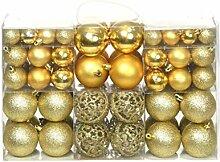 vidaXL 100x Weihnachtskugeln 6cm Golden