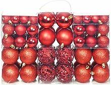 vidaXL 100x Weihnachtskugeln 6cm Rot