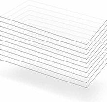 vidaXL 10x Acrylglasplatte Klar 60x120cm 2mm