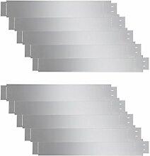 vidaXL 10x Rasenkante Metall 100x15cm