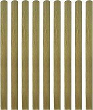 vidaXL 10x Zaunlatte Holz Gartenzaun Zaunbrett Balkonbrett imprägniert 140 cm