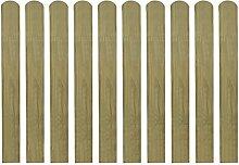 vidaXL 10x Zaunlatte Holz Zaunlatten Gartenzaun Zaunbrett Balkonbrett imprägniert 80cm